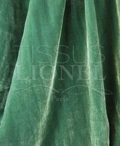 absinthe green silky velor