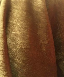 Velours de soie or changeant rouge