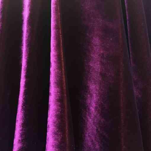 Velours de soie violet changeant jaune endroit