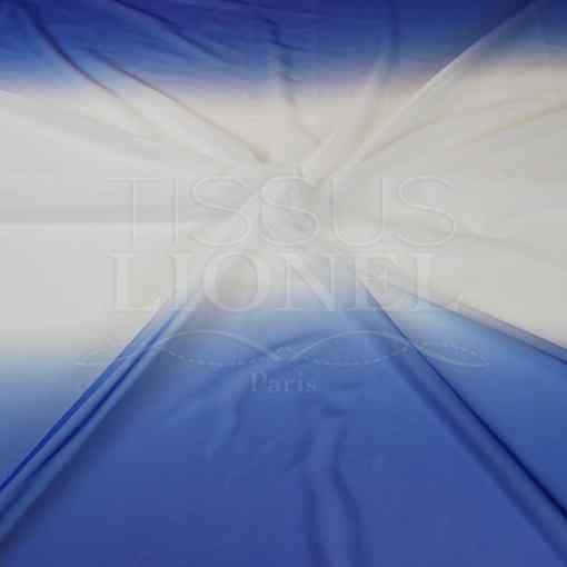 voile dégradé bleu royal blanc bleu royal