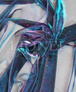 бирюзовый и фиолетовый вуаль изменения люрексом