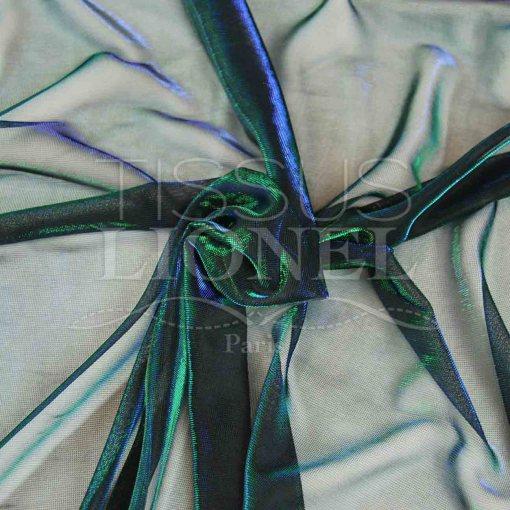 voile lurex changeante vert et bleu