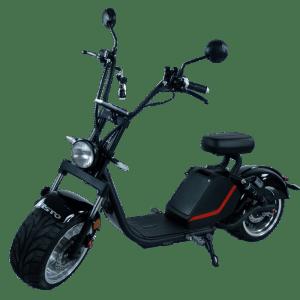 Harley E-Roller schwarz frontal