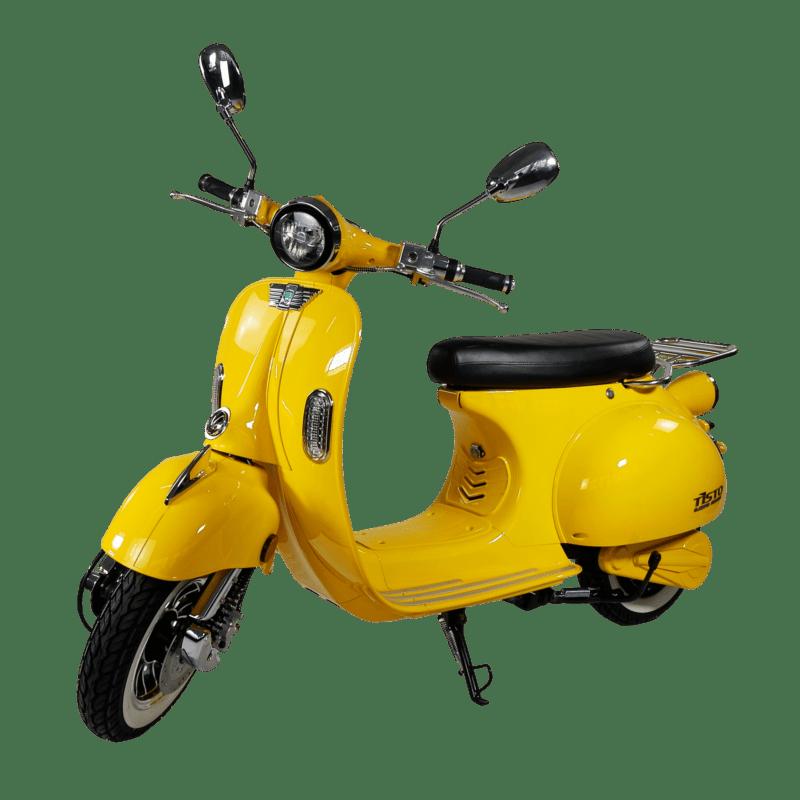 Luna Elektroroller gelb vorne seitlich