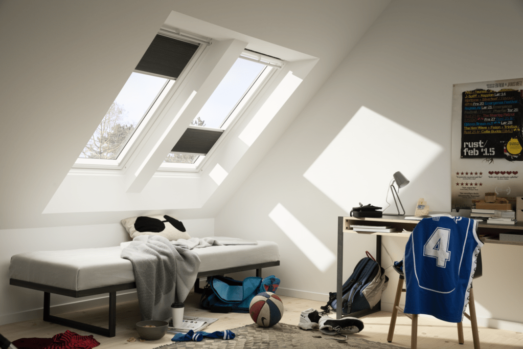 velux skylight for slopping roof