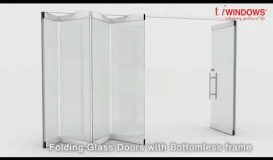 Sliding & Folding Glass Doors - Frameless Bottomless Top Hung Stacking Glass Doors