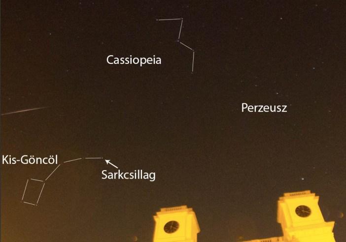 Csillagképek meteorok beforgatása