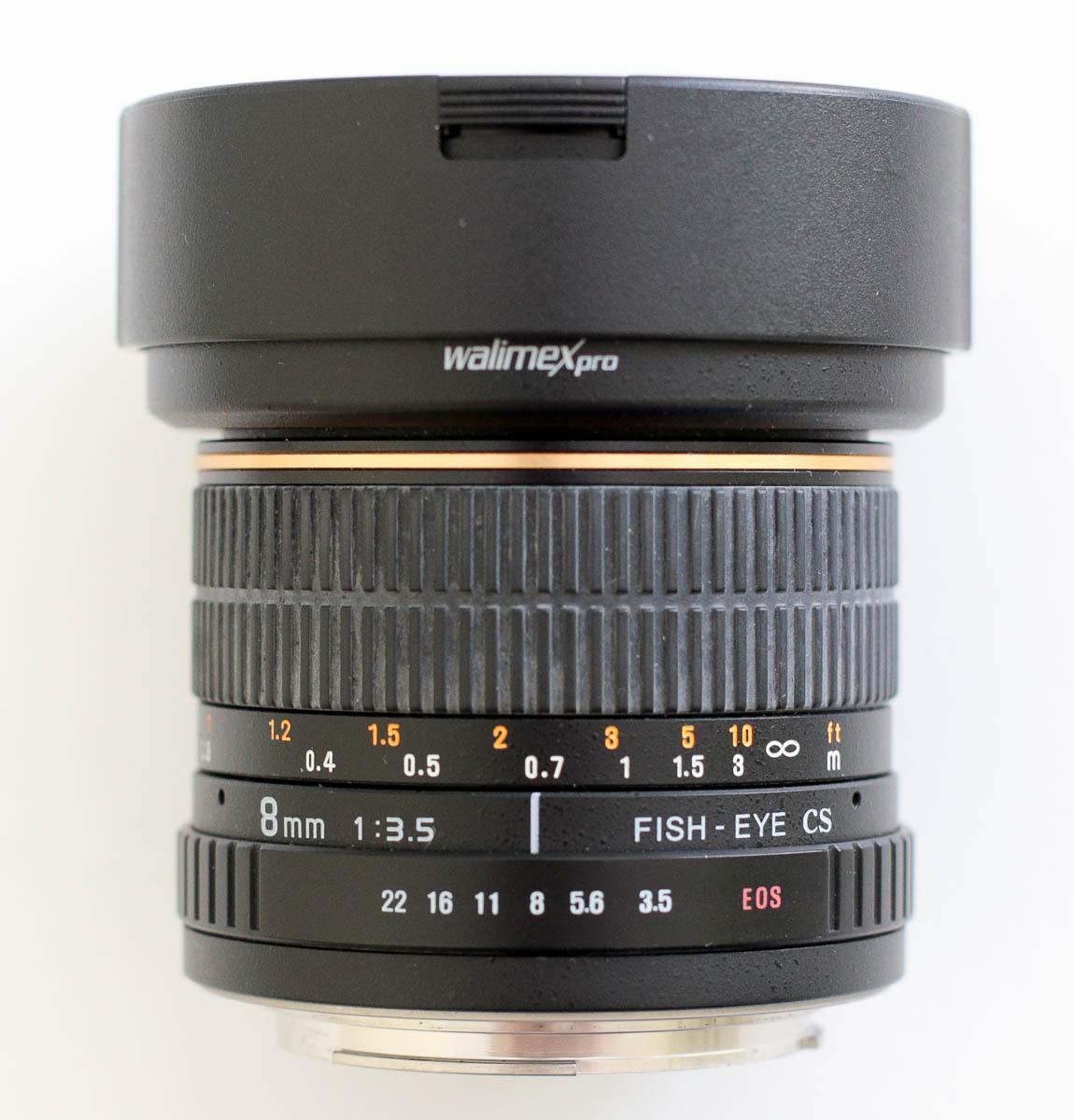 samyang 8mm halszem objektív fókuszálás manuálisan