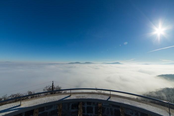 Dunakanyar a felhők alatt