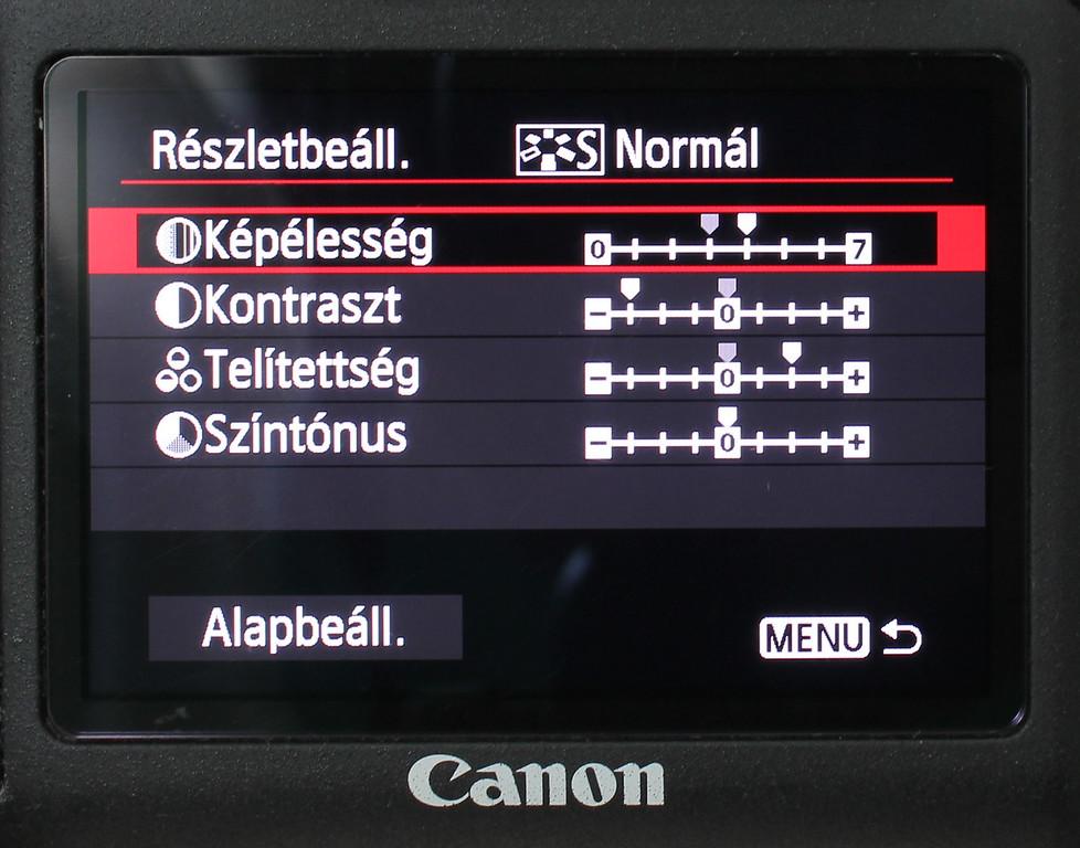 Canon 6D képstílusok