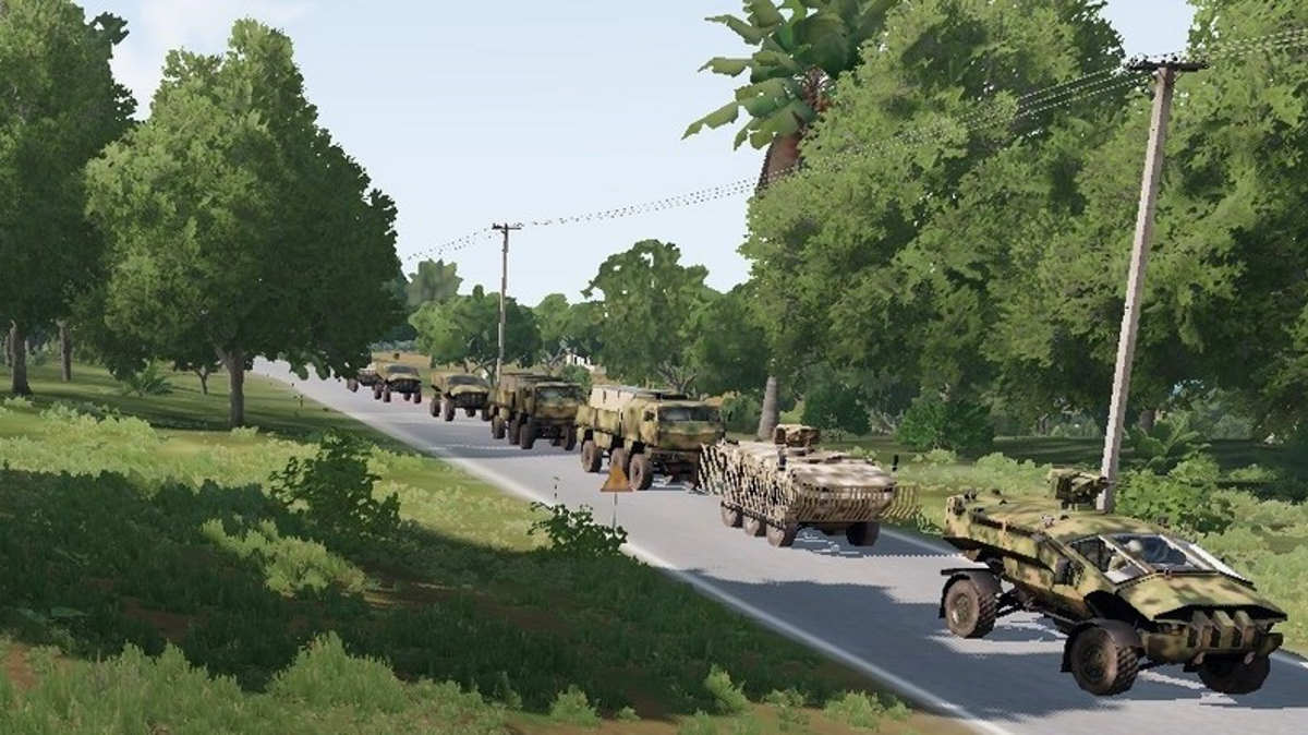 ArmA 3 CSAT Convoy ambush Tanoa