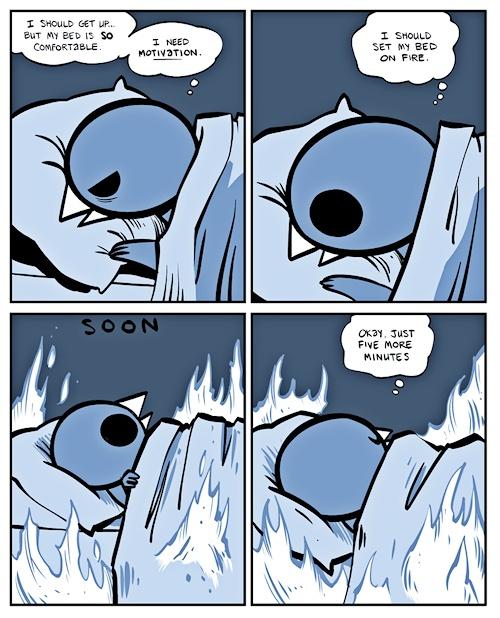 5 more minutes of sleep