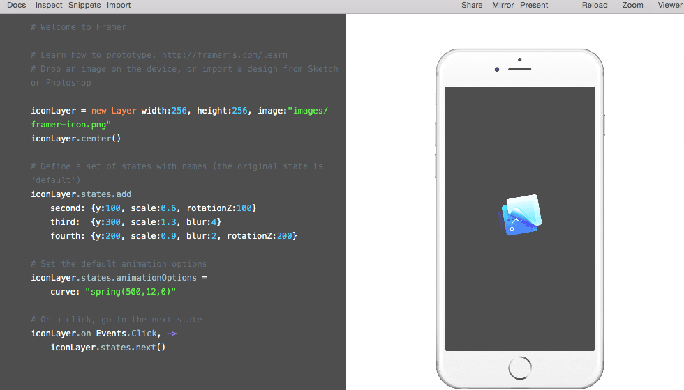 Framer JS Basics, Tutorial And Examples For Beginners