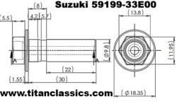Titanium M10 through drill bolt