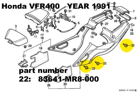 93641-MR8-000 TITANIUM bolt