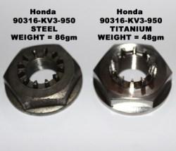 MC28 rear wheel nut