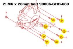 CBR600RR 2006 TITANIUM Generator cover bolts