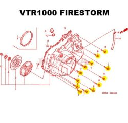 VTR1000 right crankcase bolt kit