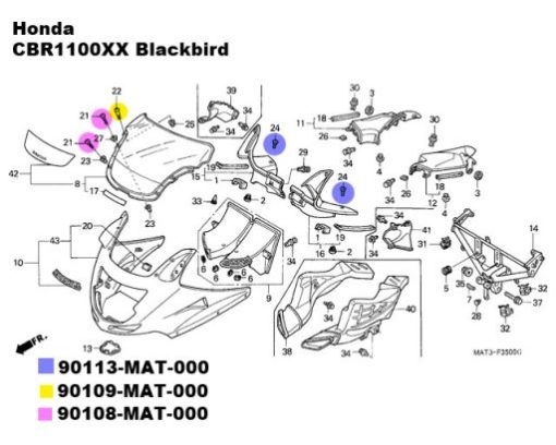 CBR1100XX Blackbird TITANIUM bolt kit