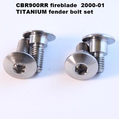 CBR900RR Titanium fender bolts