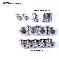 CBR1100XX Blackbird TITANIUM bolt kit