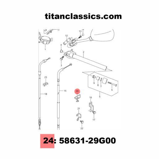 TITANIUM GSXR throttle cable guide K4-K5 (05-06) Part