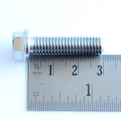 M8 x 30mm TITANIUM flange bolt