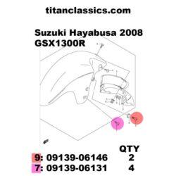 TITANIUM Suzuki fitting brake caliper bolt