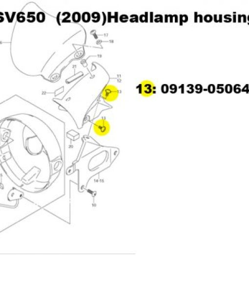 sv650 headlamp housing
