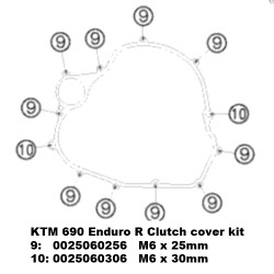 KTM 690 TITANIUM clutch cover kit