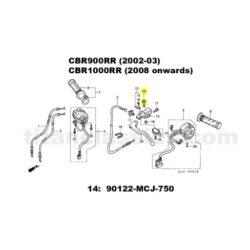 Honda Fireblade TITANIUM exhaust studs. CBR900RR(2000-03)