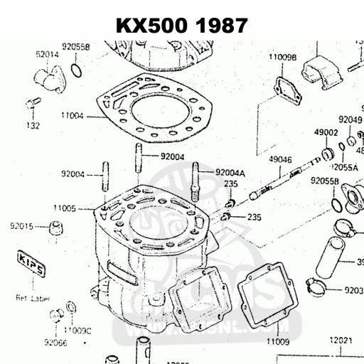 KX500 pre 1988 TITANIUM head studs Part: 92004-1210