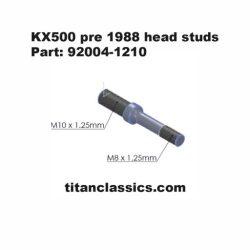 kx500 Titanium head stud