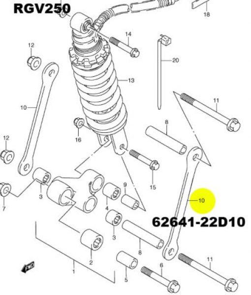 RGV250M/N Titanium cushion lever