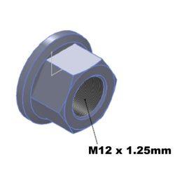 m12 TITANIUM flange nut