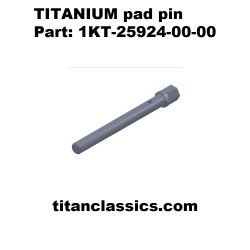 TITANIUM front pad pin