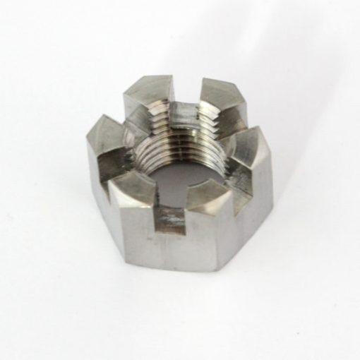 M12 x 1.25mm castellated titanium nut