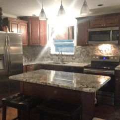 Quartz Countertops Colors For Kitchens Islands The Kitchen New Azul Aran Granite - Project Details And Pictures