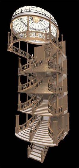 Les escaliers de 1re Classe du Titanic