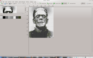 Cross Stitch of Frankenstein