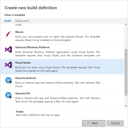 Setting up a Visual Studio Build Project