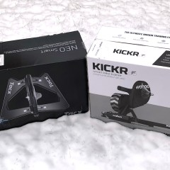 TitaniumGeek nro vs kickr TacX Neo Preview Gear Reviews Smart Trainers  Turbo Trainer Tacx Neo cycling   Image of nro vs kickr