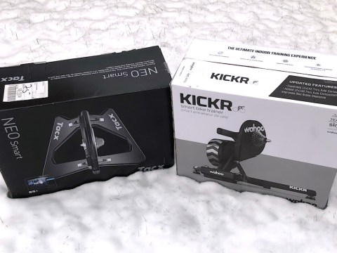 TitaniumGeek nro vs kickr Tacx NEO Bike Smart Early Review   Worth the Wait? Gear Reviews Smart Trainers  Tacx smart bike   Image of nro vs kickr