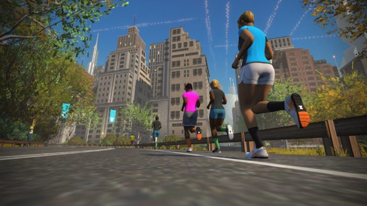 TitaniumGeek zwift screen run ny 02 700x394 Zwift RunPod   Your Treadmill Just Got Upgraded! Gear Reviews Running Zwift  Zwift running cadence   Image of zwift screen run ny 02 700x394
