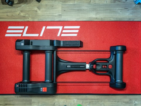 TitaniumGeek Elite Nero 46 of 47 Which Turbo Trainer Mat is Best for Zwift? Zwift Gear Tests Cycling Gear Reviews Zwift  zwift cave Zwift Wahoo Turbo Trainer turbo mats Tacx mats elite Cycleops   Image of Elite Nero 46 of 47