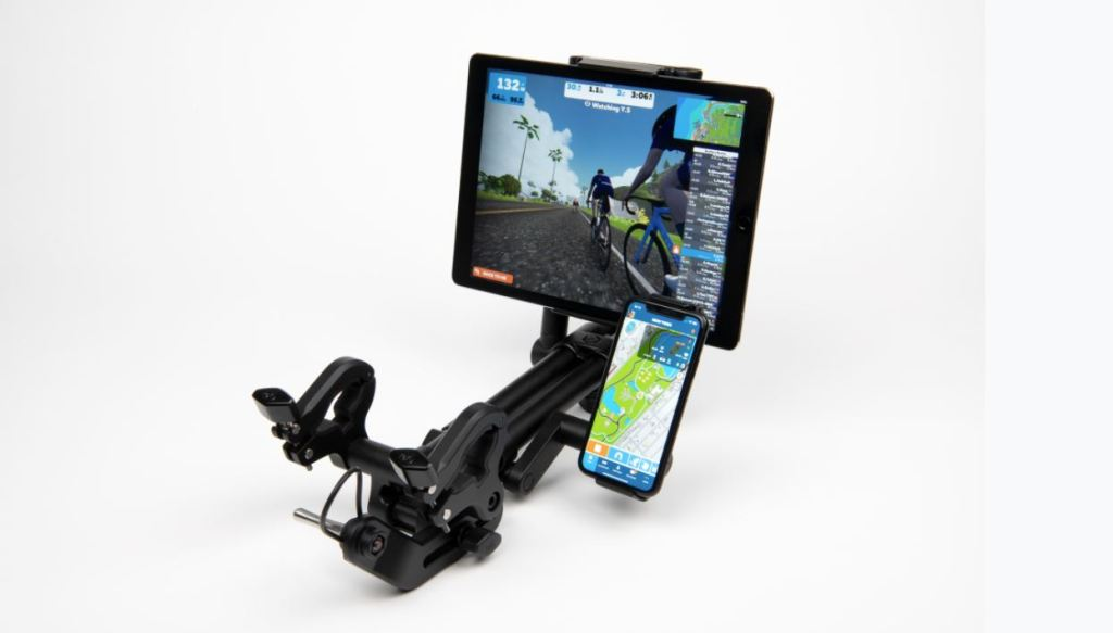 TitaniumGeek no2 Indoor Velo   your tech mount solution? Cycling Indoor cycling Kickstarter RGT Smart Trainers Turbo training Turbo Training Veloton Virtual cycling Zwift  Turbo Trainer tablet mount Smart trainer sean kelly laptop mount kickstarter iPad mount indoor velo cycle mount   Image of no2