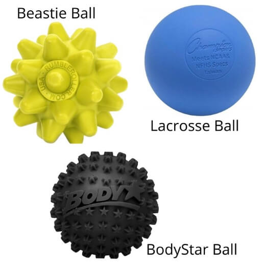 Myofascial release tools massage balls for muscle pain relief