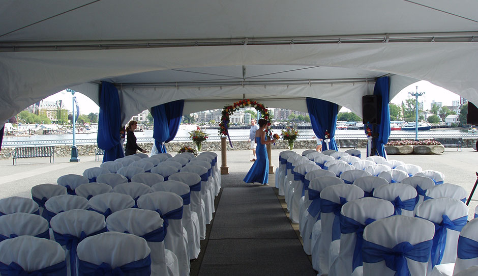 chair cover rentals victoria bc malden adirondack picture frame tent rental accessories for any occasion in titanium tents