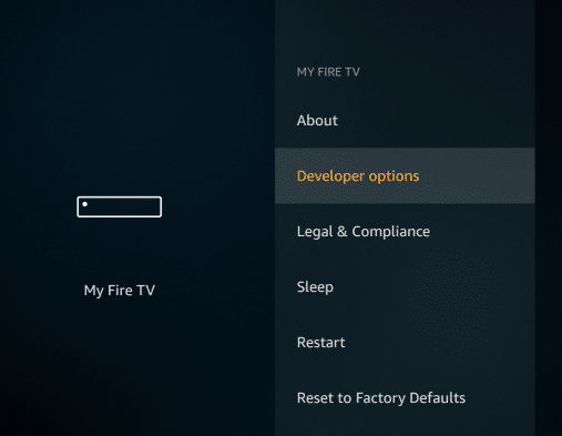 Developer Options - Titanium TV App