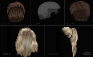 Exemple de coiffures dans City of Titans